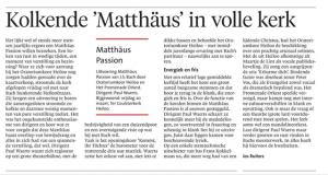 matthaus passion resensie