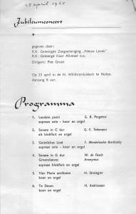 1965 Programma Jubileumconcert