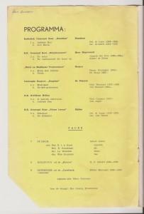 1954 Programma Zilveren Jub. Piet Groot