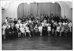 1970 Het totale koor in het Bruno gebouw