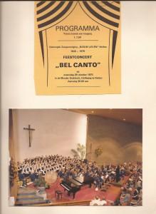 1975 Bel Canto concert 30 jaar NL