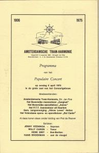 1975 Programma boekje Concertgebouw