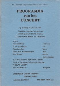 1984 Programmaboekje