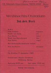 1985 Programmaboekje