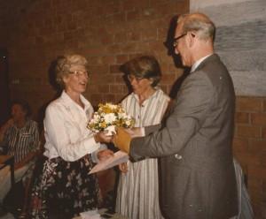 1985 Truus v.d. Maat 40 jaar lid