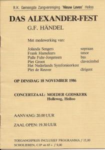 1986 Programmaboekje