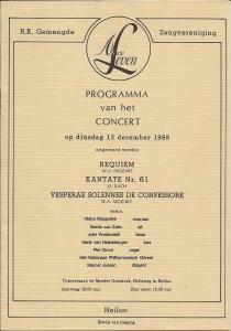 1988 Programmaboekje