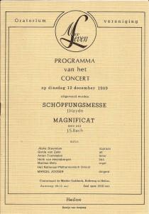 1989 Programmaboekje
