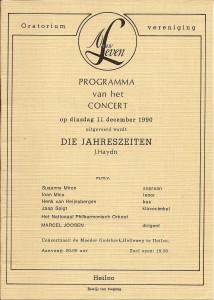 1990 Programmaboekje