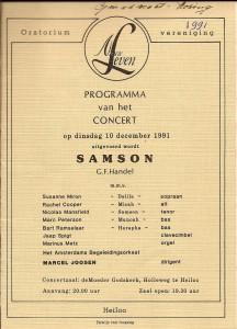 1991 Programmaboekje