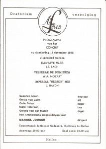 1992 Programmaboekje
