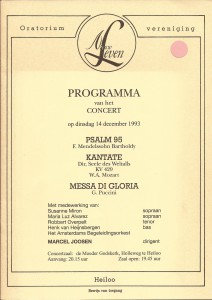 1993 Programmaboekje