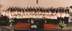 1995 Voltallig koor vóór het concert (28-11)