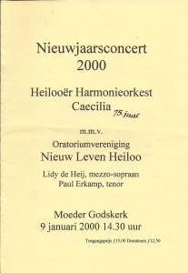 11-2000 Programmaboekje Nieuwjaarsconcert