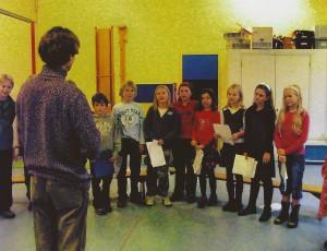 2007 De eerste repetities van het nieuwe kinderkoor[1]