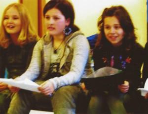 2007 De eerste repetities van het nieuwe kinderkoor[3]